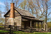 Cabin Corner Photos - Tipton Hays Log Cabin 10 by Douglas Barnett