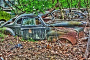 Rusted Cars Framed Prints - Tire less- Auto Personalities #9 Framed Print by Dan Stone