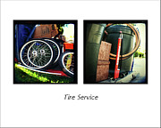 Whee Framed Prints - Tire Service Framed Print by James David Phenicie