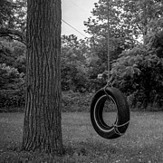 Swingset Framed Prints - Tire Swing Framed Print by Alexander Snay