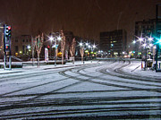 Reno Prints - Tire Tracks In Snow Print by Marc Crumpler