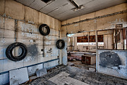 Abandoned Buildings Photo Prints - Tired Building Print by Peter Tellone