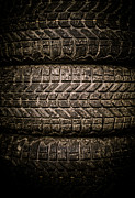 Dirt Art - Tires by Edward Fielding