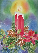 Candle Painting Originals - Tis the Season by Deborah Ronglien