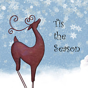 Snowflakes Metal Prints - Tis the Season Metal Print by Juli Scalzi
