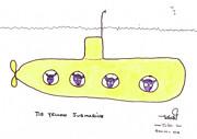 Tis Yellow Submarine Print by Tis Art