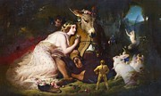 Landseer Paintings - Titania and Bottom by Pg Reproductions