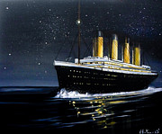 The Titanic Prints - Titanic - Iceberg Dead Ahead Print by Vikki Hastings