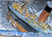 Liner Paintings - Titanic by Kathy Marrs Chandler