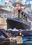 Seaside Digital Art Posters - Titanic Poster by Steve Crisp