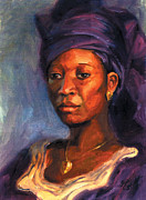 African Woman Framed Prints - Titay Framed Print by Alice Leggett