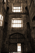 Entrance Door Posters - Titchfield Abbey Gatehouse in Sepia Poster by Terri  Waters