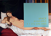 Red White Blue Paintings - Titian Version by Michael Gauche