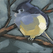 Titmouse Paintings - Titmouse Camo by Nancy  Parsons