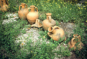 Roman Vase Prints - Titurtine House Amphorae Pompeii Print by Jan Faul