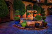 Tlaquepaque Sedona Digital Art Posters - Tlaquepaque Fountain Poster by Jon Burch Photography