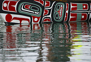 Tlingit Posters - Tlingit Canoe on the Tongass Poster by Cynthia Lagoudakis