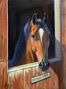 Horse Head Paintings - Tnt by Jeanne Newton Schoborg