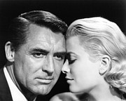 Actors Photo Prints - To Catch A Thief Cary Grant and Grace Kelly Print by Silver Screen