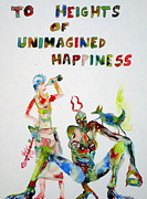 Drawing Painting Originals - To Heights Of Unimagined Happiness by Fabrizio Cassetta