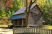Log Cabins Art - To Live Out Loud by B Wayne Mullins