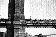 Brooklyn Bridge Prints - To Manhattan 1990s Print by John Rizzuto