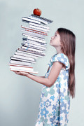 Difficult Photos - To Many Schoolbooks by Joana Kruse