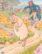 Pig Drawings - To Market to Market by Leonard Leslie Brooke