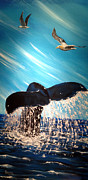 Killer Whale Paintings - To Soar by Jim Bowers