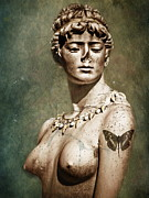 Figure Sculpture Framed Prints - To Spite Her Face Framed Print by Colleen Kammerer