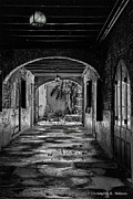 Christopher Holmes Metal Prints - To The Courtyard - BW Metal Print by Christopher Holmes
