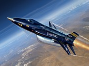 Plane Digital Art Posters - To The Edge of Space - The X-15 Poster by Stu Shepherd