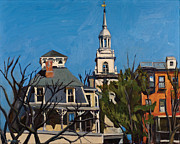 Boston Painting Metal Prints - To the Heights Metal Print by Deb Putnam