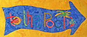Bright Tapestries - Textiles Prints - To The Pool Print by Susan Rienzo