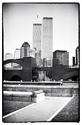 The Twin Towers Prints - To the Towers 1990s Print by John Rizzuto