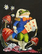 Alice In Wonderland Paintings - Toad by Amy Burczyk