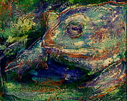 Florida Marsh Mixed Media Originals - Toad You So by D Renee Wilson