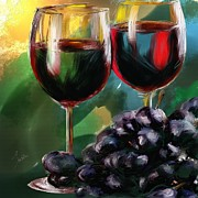 Wine Glass Paintings - Toast of Wine by Robert Smith