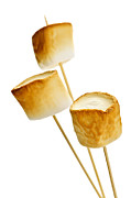 Toasting Art - Toasted marshmallows by Elena Elisseeva