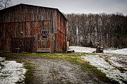 Country Driveway Photo Posters - Tobacco Barn Poster by Heather Applegate