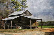 Pole Prints - Tobacco Barn in North Carolina Print by Benanne Stiens