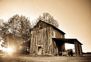 Andrew Crispi - Tobacco Barn in Sunset