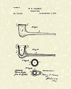 Smoking Drawings - Tobacco Pipe 1885 Patent Art by Prior Art Design