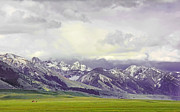 Snow-covered Landscape Art - Tobacco Root Mountain Range Montana by Jennie Marie Schell