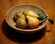 Today's Pears Print by Gwyn Newcombe