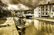 Yorkshire Bridge Framed Prints - Todmorden Wharf toned  Framed Print by Rob Hawkins