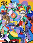 Jazz Band Art - Toe Jam by Anthony Falbo