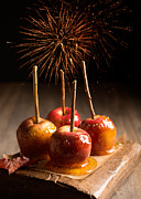 Bonfire Night Framed Prints - Toffee Apples Group Framed Print by Christopher and Amanda Elwell