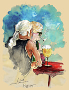 Drinkers Posters - Together Old in Spain 04 Poster by Miki De Goodaboom