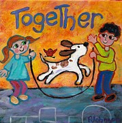 Playing Painting Originals - Together by Peggy Johnson